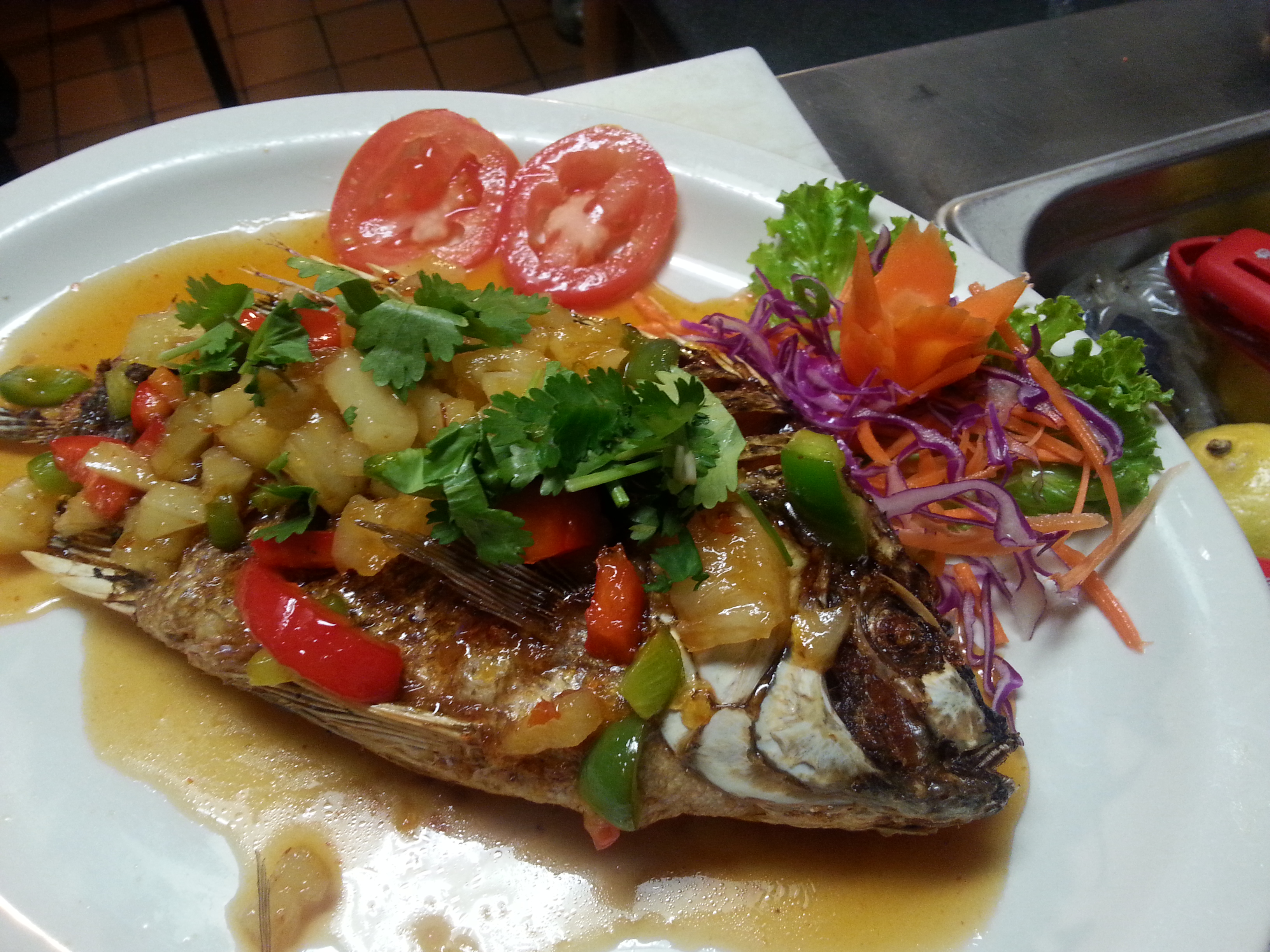 SPECIAL DEEP FRIED TILAPIA SWEET AND SOUR